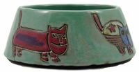 Mara Stoneware 24oz Cat Dishes - Green