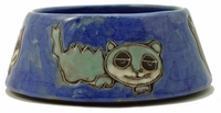 Mara Stoneware 24oz Cat Dishes - Blue