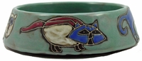 Mara Stoneware 16oz Cat Dishes - Green-out of stock until approximately early June