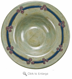 "Mara Stoneware 12"" Pasta Plate - Antique Green"