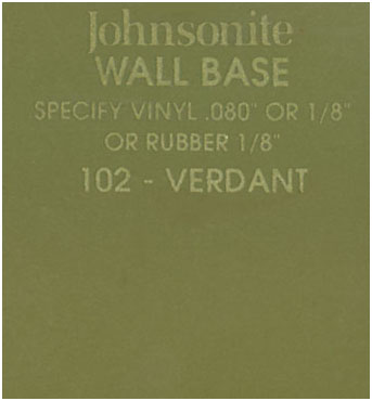 JOHNSONITE WALL BASE COLOR: VERDANT