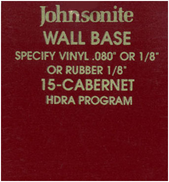 JOHNSONITE WALL BASE COLOR: CABERNET