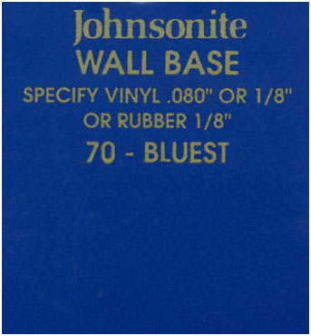 JOHNSONITE WALL BASE COLOR: BLUEST