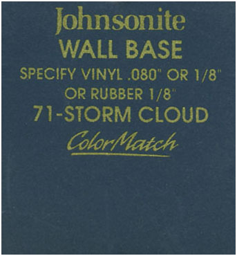 JOHNSONITE WALL BASE COLOR: STORM CLOUD