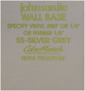 JOHNSONITE WALL BASE COLOR: SILVER GREY