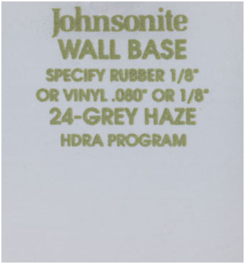 JOHNSONITE WALL BASE COLOR: GREY HAZE