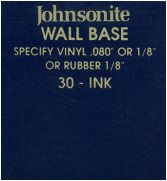 JOHNSONITE WALL BASE COLOR: INK