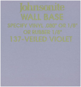 JOHNSONITE WALL BASE COLOR: VEILED VIOLET