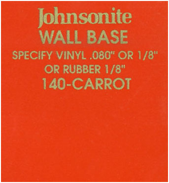 JOHNSONITE WALL BASE COLOR: CARROT