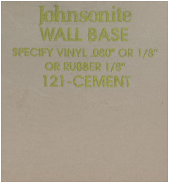 JOHNSONITE WALL BASE COLOR: CEMENT