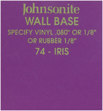 JOHNSONITE WALL BASE COLOR: IRIS