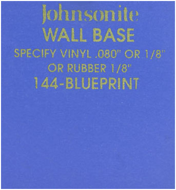 JOHNSONITE WALL BASE COLOR: BLUEPRINT