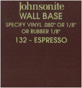 JOHNSONITE WALL BASE COLOR: ESPRESSO