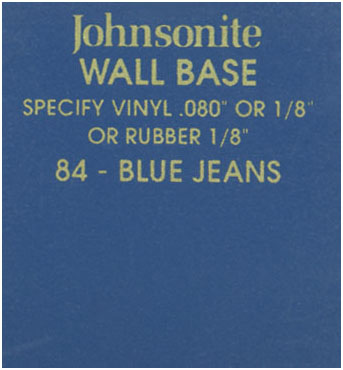 JOHNSONITE WALL BASE COLOR: BLUE JEANS