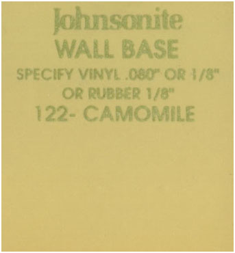 JOHNSONITE WALL BASE COLOR: CAMOMILE