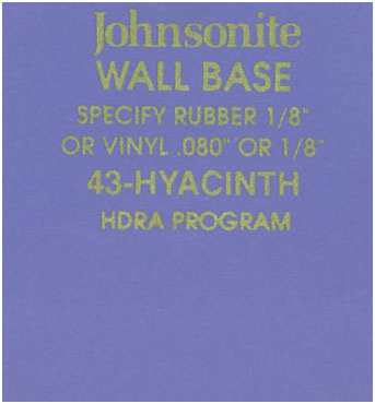 JOHNSONITE WALL BASE COLOR: HYACINTH