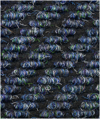 DIAGONAL RIB CARPET TILE COLOR: BLUE
