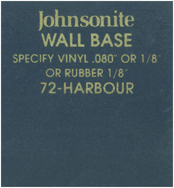 JOHNSONITE WALL BASE COLOR: HARBOUR
