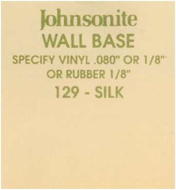JOHNSONITE WALL BASE COLOR: SILK