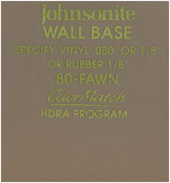 JOHNSONITE WALL BASE COLOR: FAWN