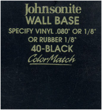 JOHNSONITE WALL BASE COLOR: BLACK