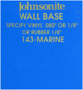 JOHNSONITE WALL BASE COLOR: MARINE