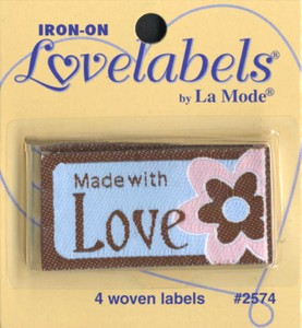 Made with Love Iron On Label 4 Count