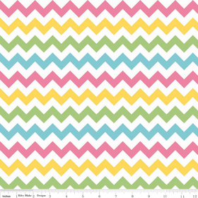 Small Chevron Yardage Girl for Riley Blake