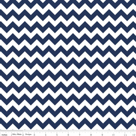 Small Chevron Yardage Navy by Riley Blake