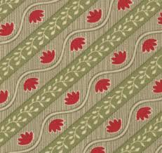 Grace Bias Stripe Evergreen Yardage by 3 Sisters for Moda SKU# 4058-13
