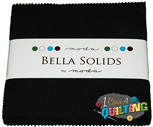 Bella Solids Charm Pack Black by Moda for Moda SKU# 9900PP-99