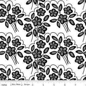 Mystique Flower White Yardage by Lila Tueller for Riley Blake Designs SKU# c3082-white