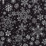 Penguin Pals Snowflakes Black by Sara Khammash for Moda SKU# 11221-15