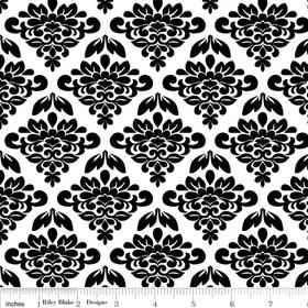 Mystique Petal White Yardage by Lila Tueller for Riley Blake Designs SKU# c3083-white