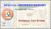 Special Order Report $10.00