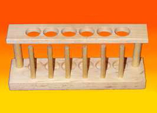 Test Tube Rack, Wooden