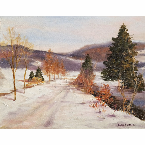 after Country Road in Winter