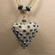 Necklace - Blue Hearts