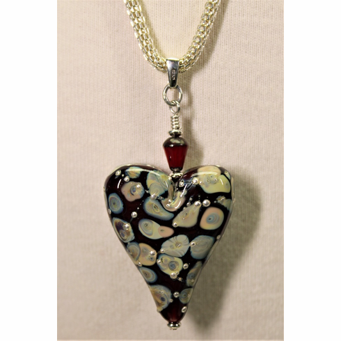 Sangre Heart Pendant with Chain
