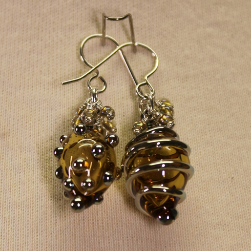 Earrings - Hollow-built Beads