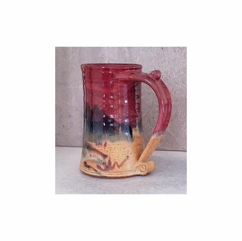 Red Beer Stein