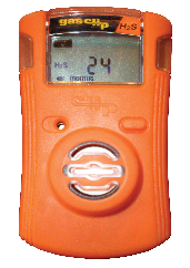 Gas Clip Technologies SGC-P-H Single Gas Clip Plus Detector with Hibernate Mode, Hydrogen Sulfide (H2S), Orange