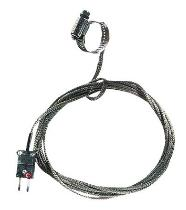 "Oakton 0.44-1.00"" Dia. Hose Clamp Surface Thermocouple Probe with SS Cable, Type K - WD-08469-22"