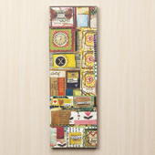 "Love, Joy Patchwork Wall Art 8""x24'"