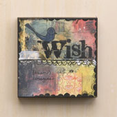 """Wish "" Wall Art 6""sq"