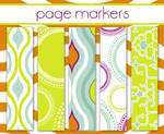 Pagemarkers-125 pagemarkers/5designs per package