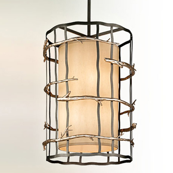troy lighting f2885 adirondack 6 light pendant