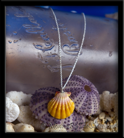 Classic Pink, Yellow & White Hawaiian Sunrise Shell Silver Rope Chain Necklace