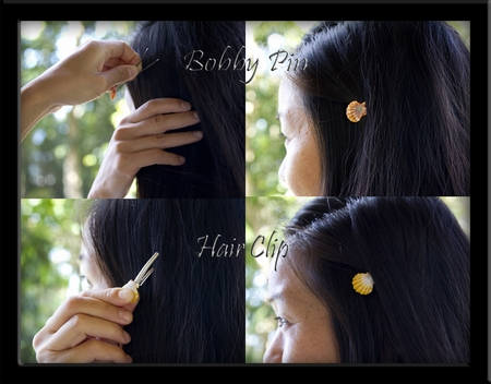 Sunrise Shell Hair Accessories, Clips & Bobby Pins