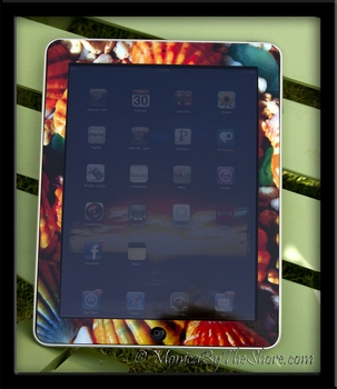 MonicaByTheShore iPad Sunrise Shell Skin